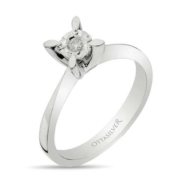 One-Stone Diamond Ring-OTTASILVER