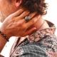 Hand Carved Fligree Silver Ring-OTTASILVER