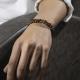 Genuine Stone Tiger Eye Handmade Bracelet-OTTASILVER