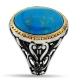 Turquoise Stone Ring For Men-OTTASILVER