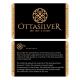 Blue Enamel Carbon Fiber Sterling Silver Men Ring-OTTASILVER