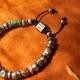 Silver Bead Bracelet with Stone-OTTASILVER