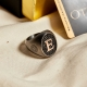Exclusive 1 Letter Ring in 925K Silver-OTTASILVER