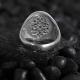 Minimalist Silver Ring Seal of Solomon with Green CZ Diamonds-OTTASILVER