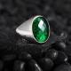 Minimalist Silver Ring with Green Zircon-OTTASILVER