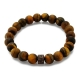Tiger Eye Beaded Bracelet with Silver and Zircons-OTTASILVER