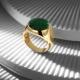 18K Gold Basic Minimal Ring with Green Zircon-OTTASILVER