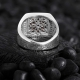 Basic Sterling Silver with Square Black-White CZ Diamonds-OTTASILVER