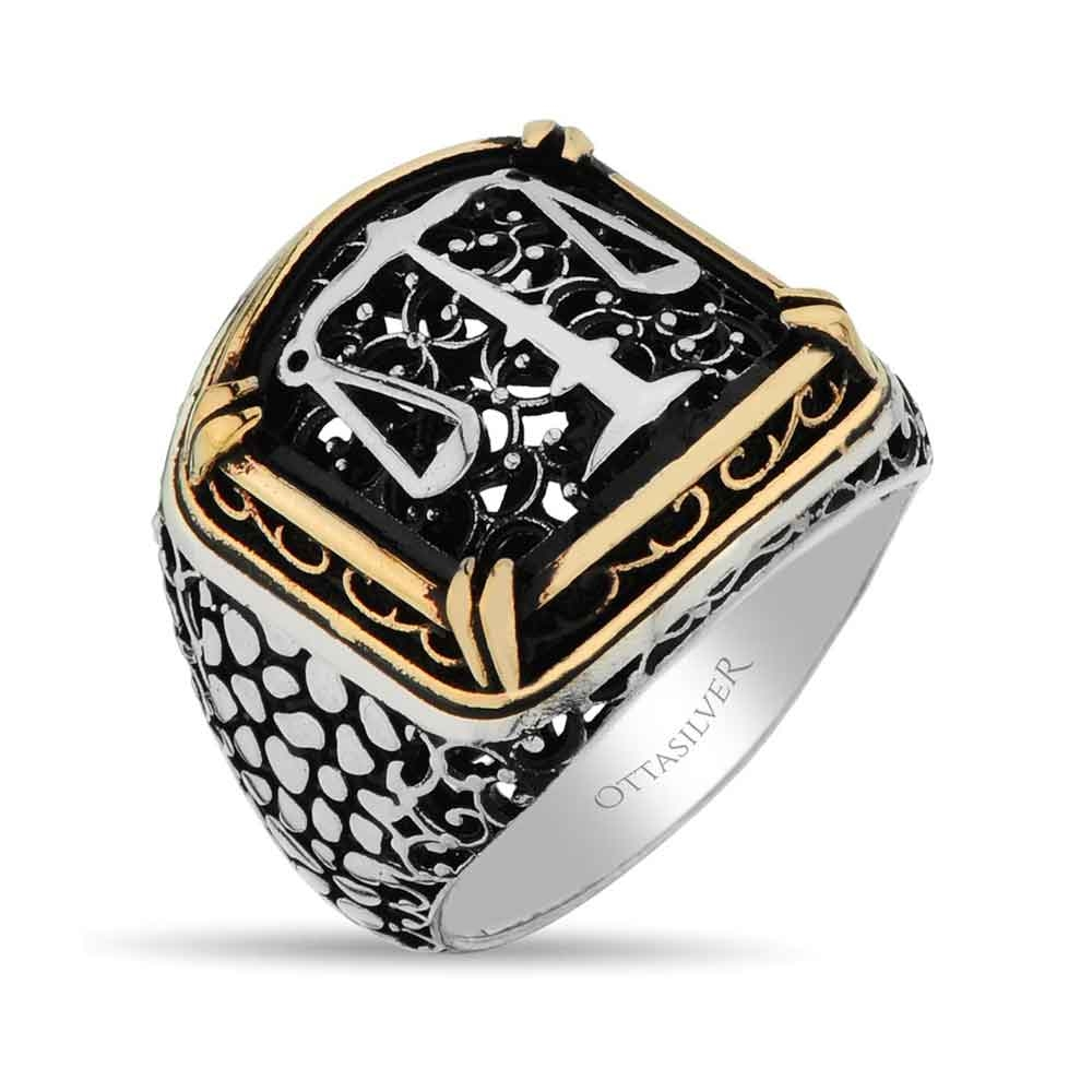 Scales of Justice Silver Men Ring-OTTASILVER