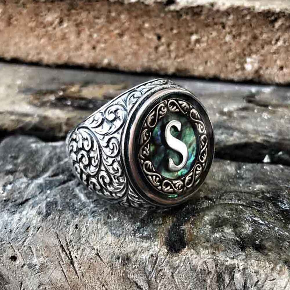 Exclusive Customize Silver Ring with Ocean Pearl-OTTASILVER