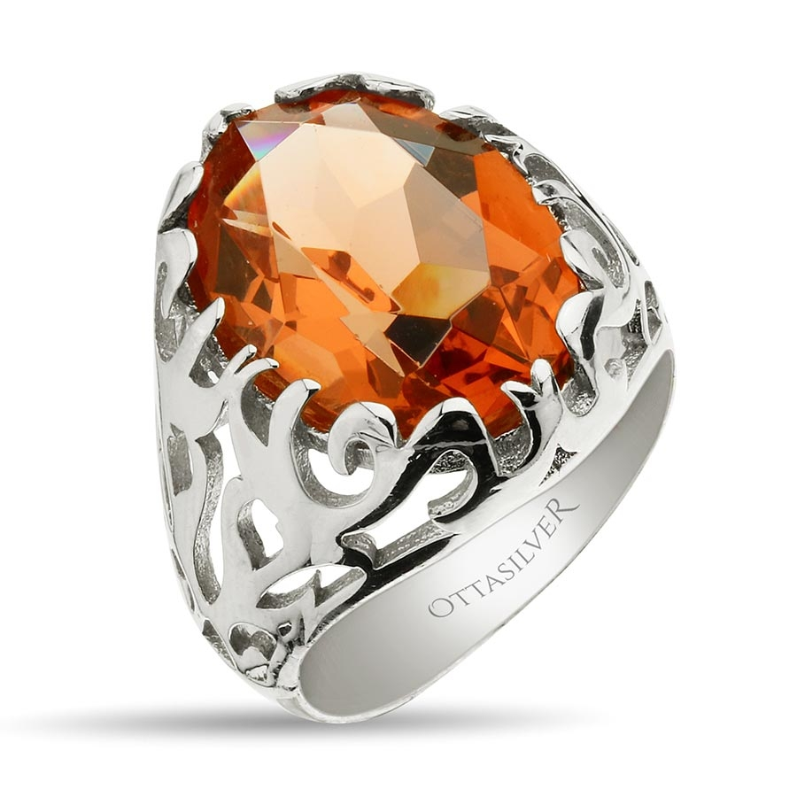 Color Changing Zultanite Stone Sterling Silver Mens Ring-OTTASILVER