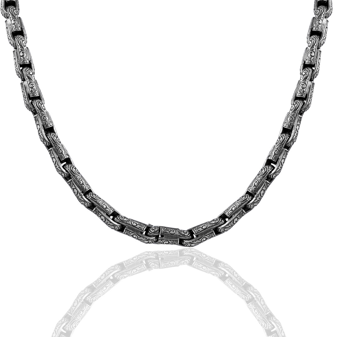 925 Sterling Silver Chain Necklace-OTTASILVER