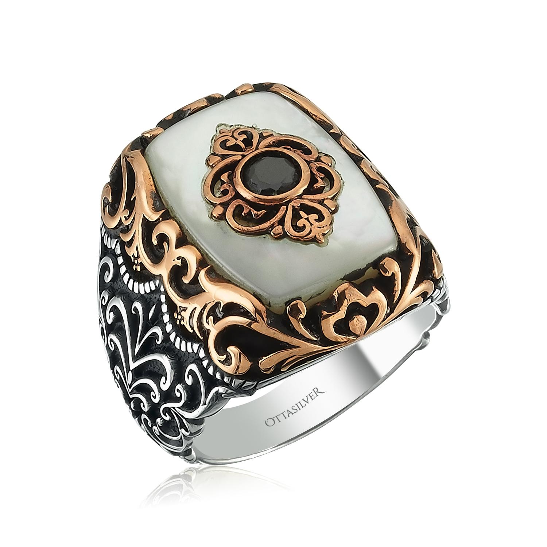 Pearl Mens Ring-OTTASILVER