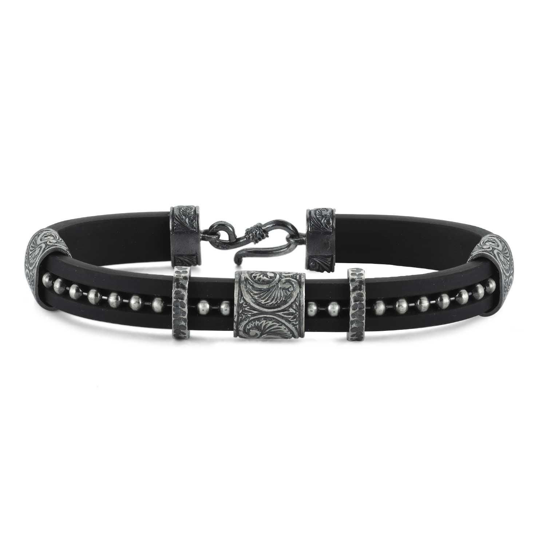Silver Bracelet with Beads-OTTASILVER
