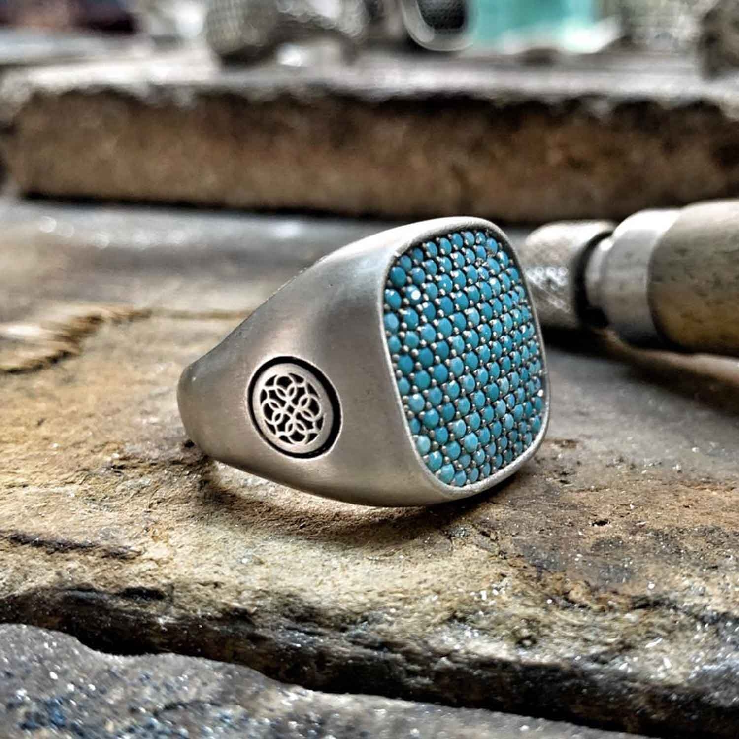 Turquoise Silver Ring-OTTASILVER