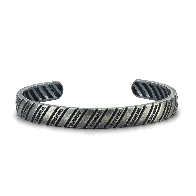 Modern Design Silver Bangle-OTTASILVER