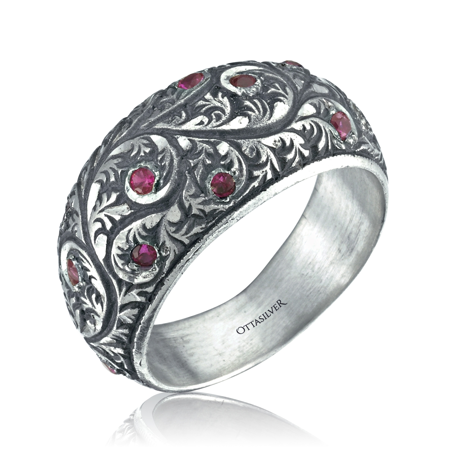 Special Design Hand Engraved Band-OTTASILVER